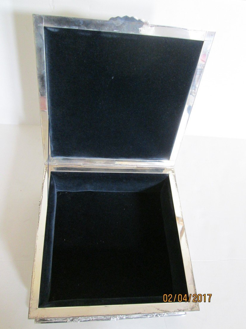 Sterling document or jewelry box - 6