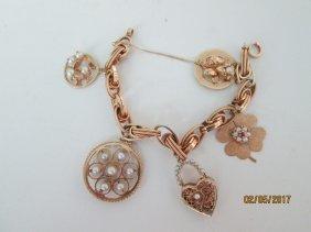 14kt charm bracelet