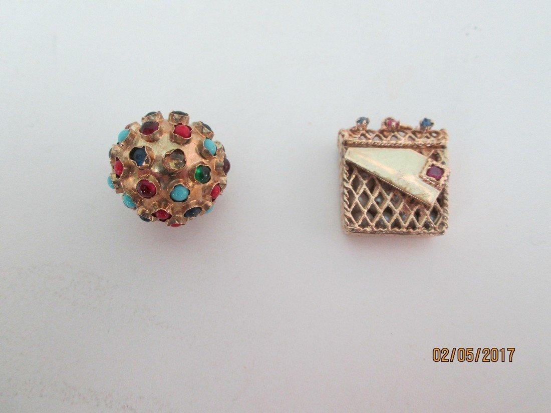 14kt charms w/gemstones