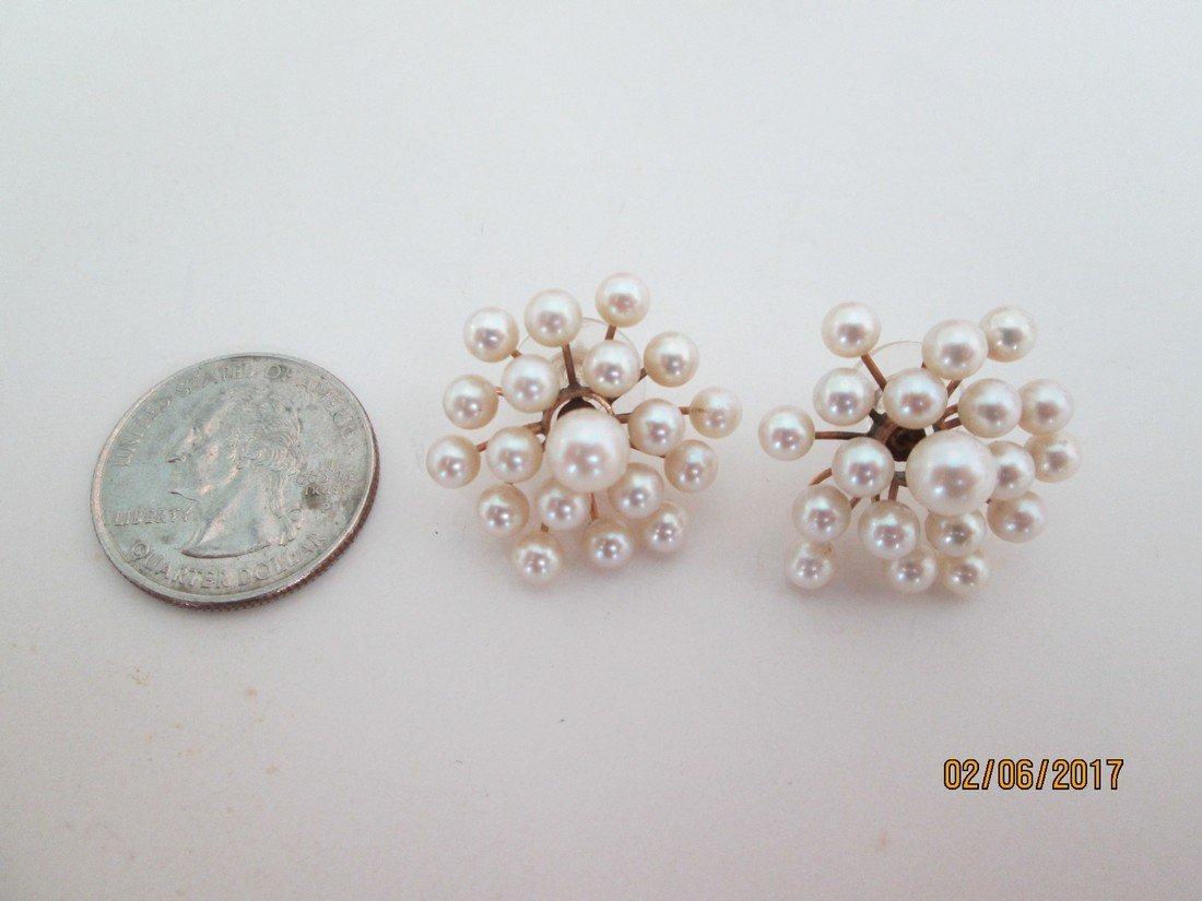 14kt & pearl earrings