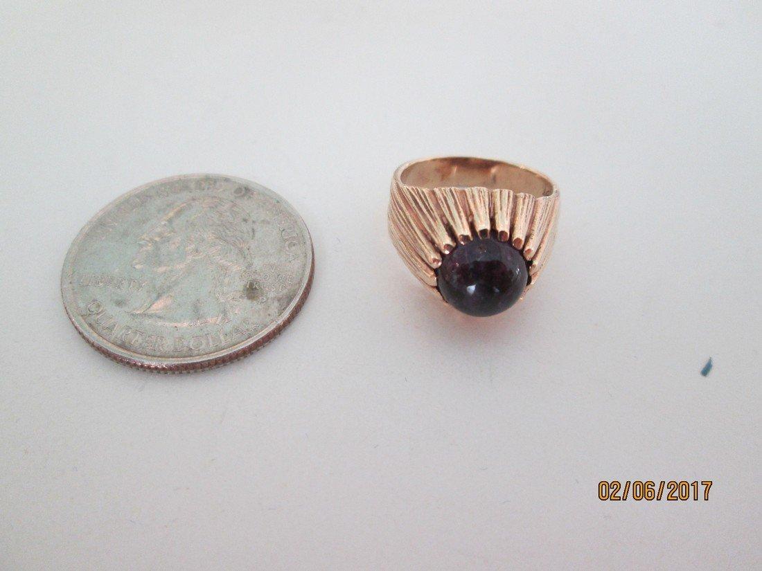 14kt & amethyst ring