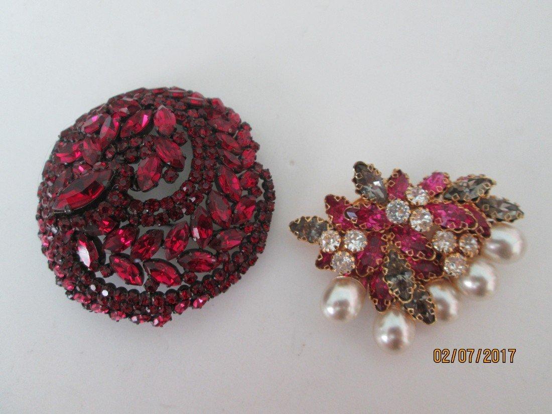 Vintage rhinestone pins