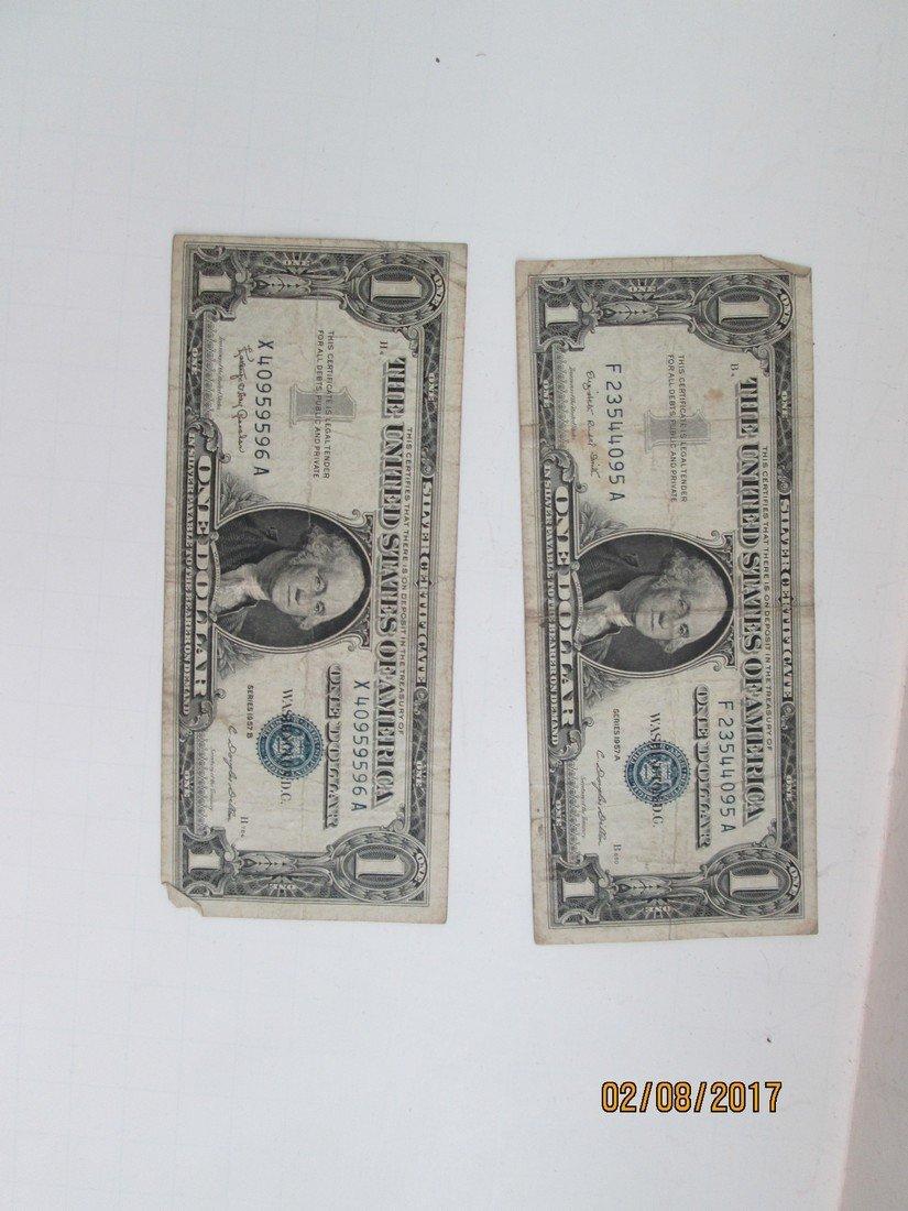 1957 silver certificate dollars