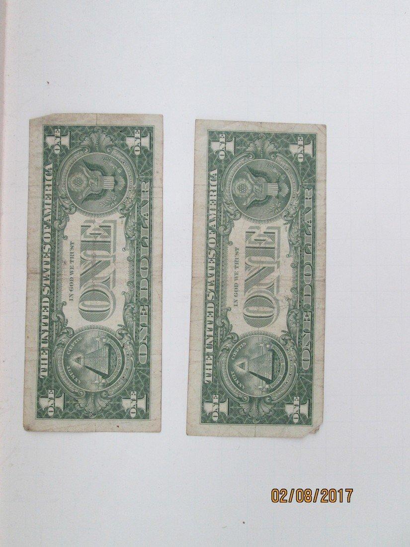 1957 silver certificate dollars - 2