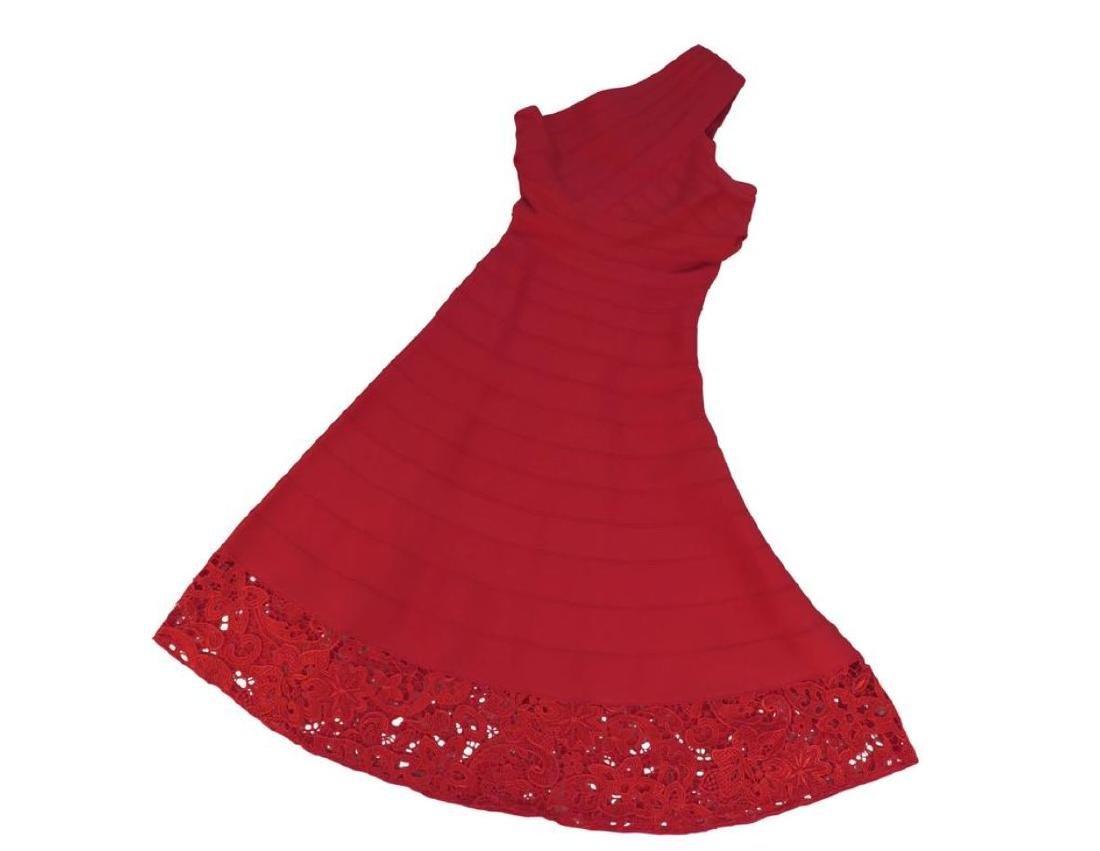 Red Herve Leger Dress