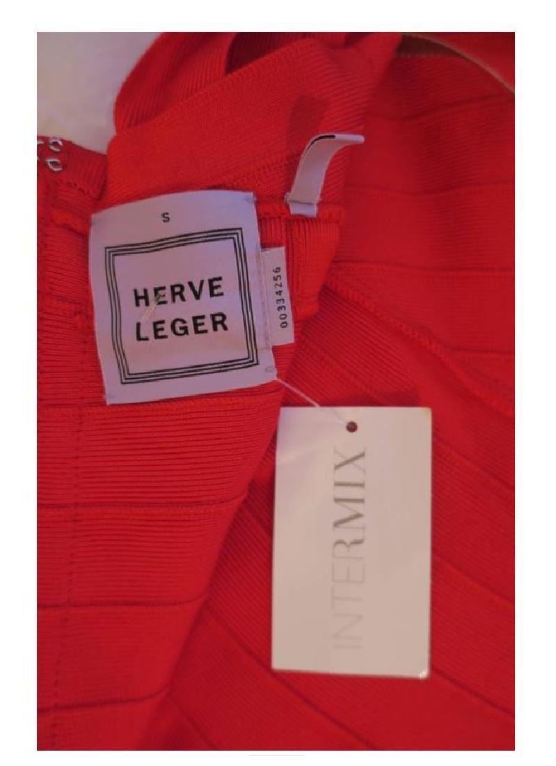 Red Herve Leger Dress - 2