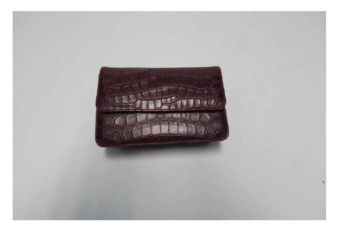 Italian Red Burgundy Leather Handbag - 2