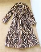 Fur Mink Chevron styling Coat