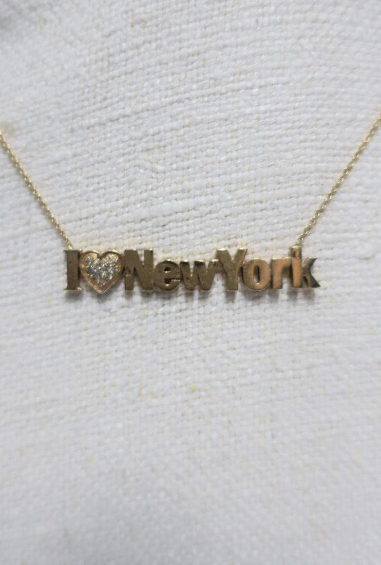 Jewelry 14 kt yellow gold 'I Love New York' Necklace