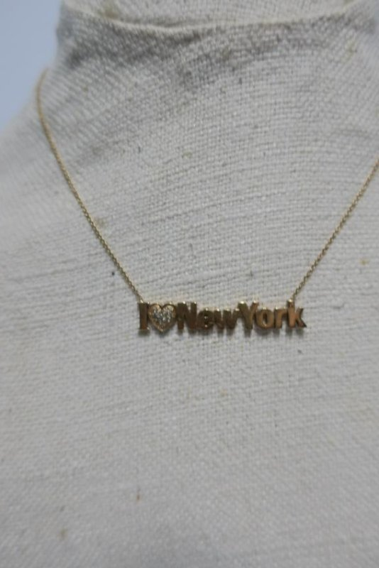 Jewelry 14 kt yellow gold 'I Love New York' Necklace - 2
