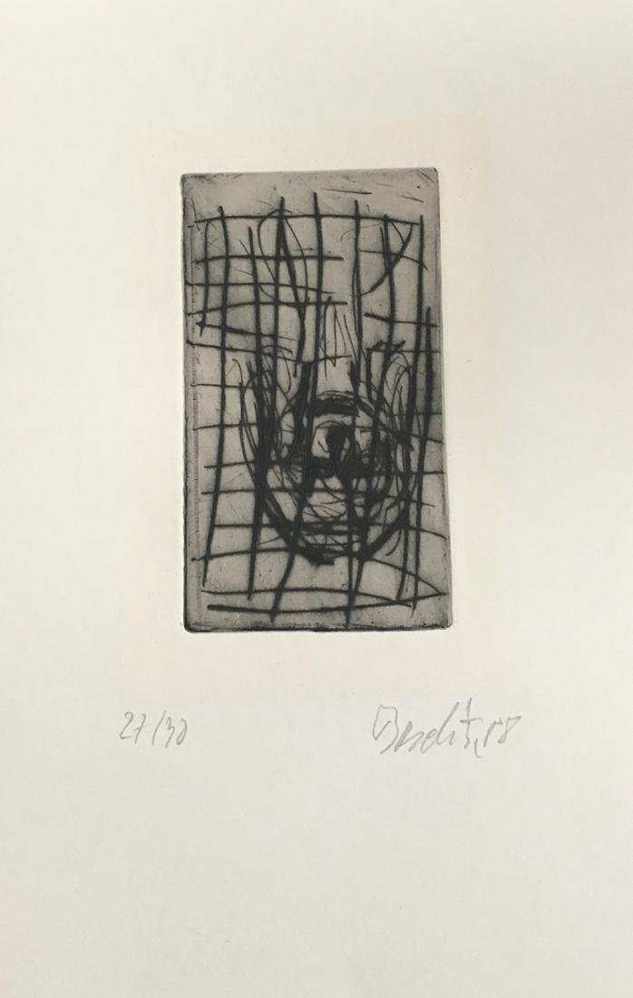 Baselitz (Georg), book with signed etching.
