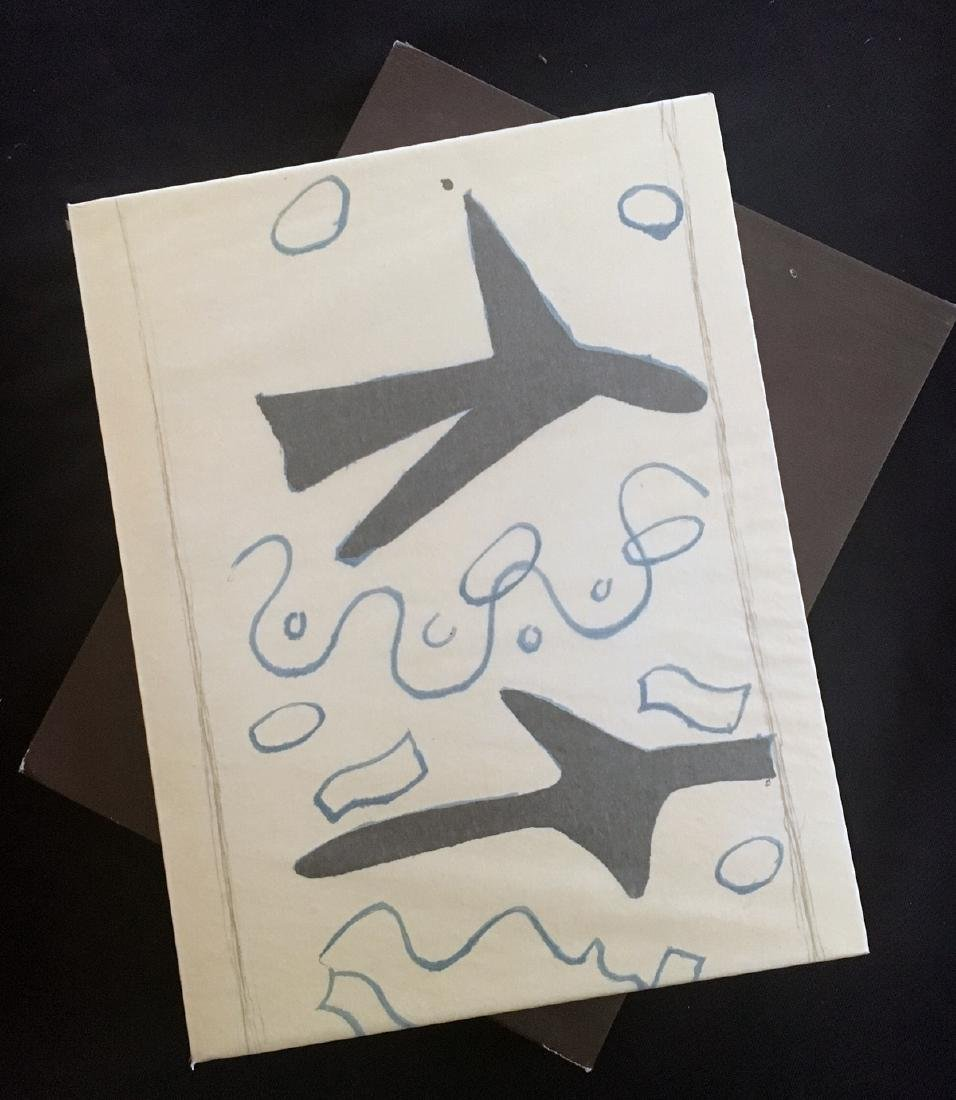 Braque (George), book with 3 original lithographs.
