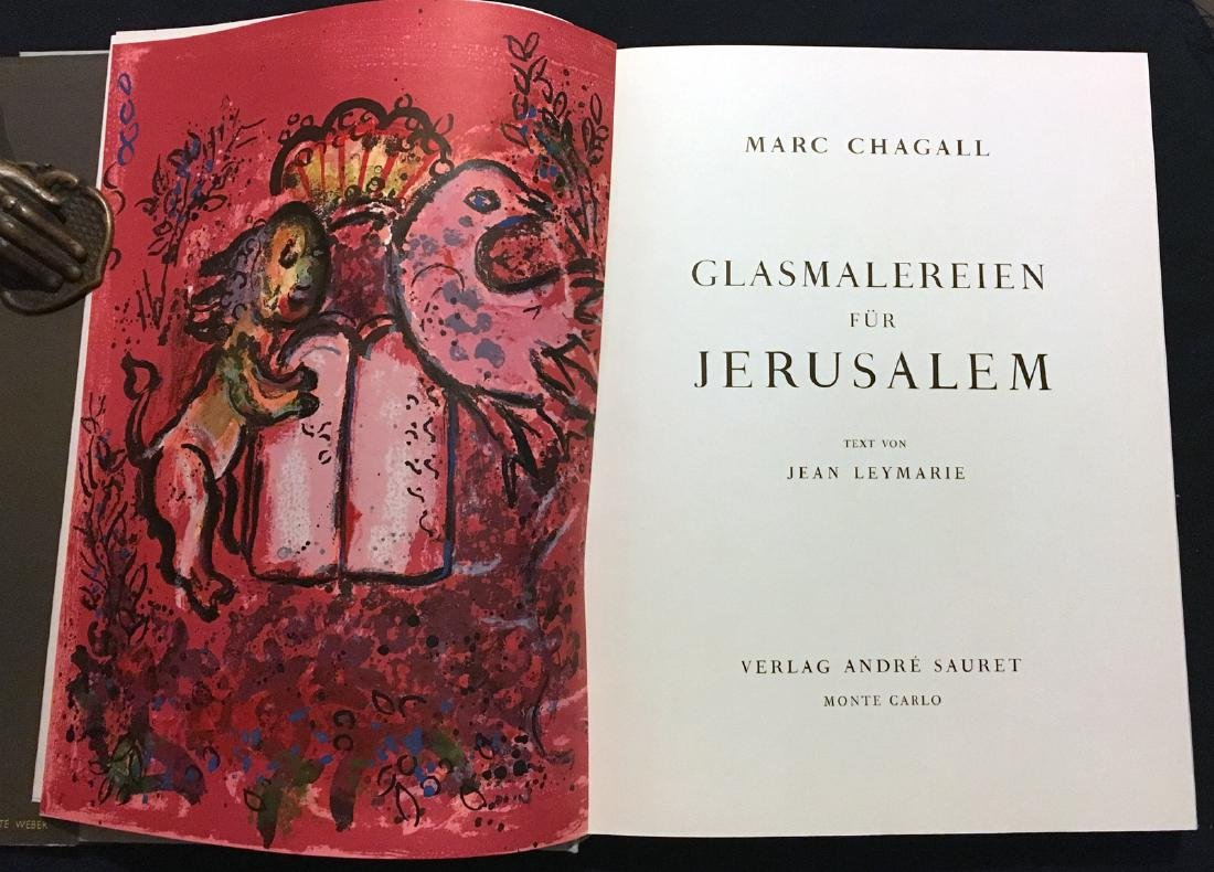 Marc Chagall, book with 2 original lithographs.