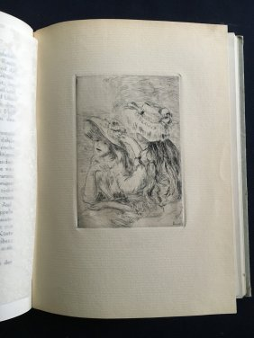 Impressionism, book with 2 etchings by Renoir.