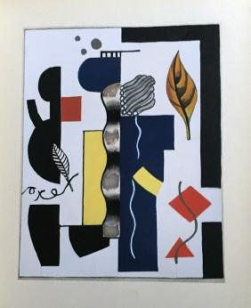 Leger (Fernand), book with 4 pochoirs.