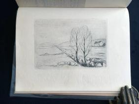 Munch (Edvard), book with original lithograph.