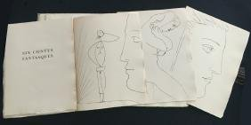 Picasso (Pablo), book with 6 engravings.