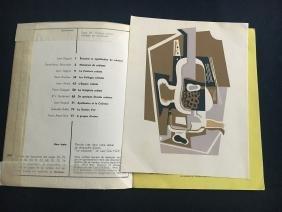 Art D'Aujourd'Hui, 1953, with silkscreen by Gris.