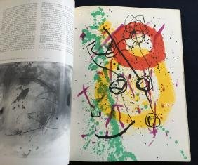 Revue XXe siècle, 1961, with three original prints by