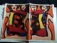 Portfolio with 62 original lithographs by Sam Francis,