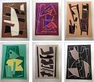 Magnelli (Alberto), portfolio with 12 linocuts