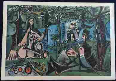 Les Dejeuners Suite of 12 prints by Picasso