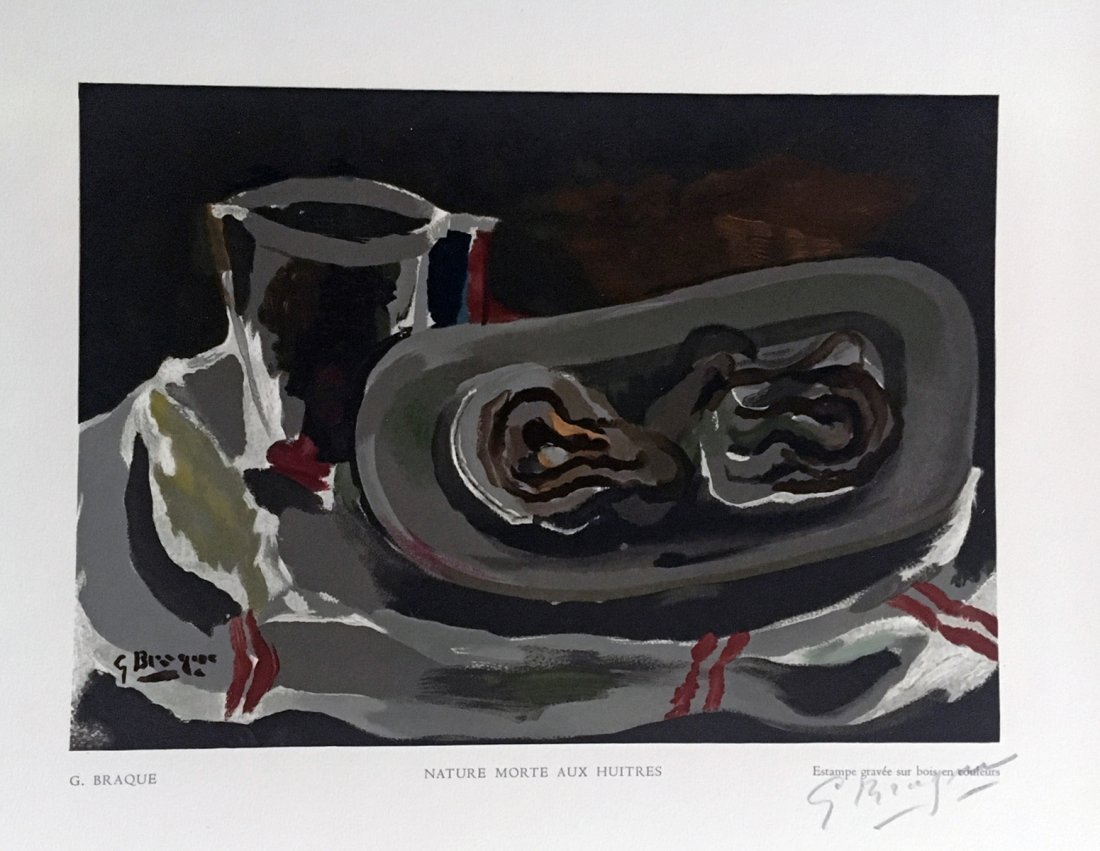 Nature morte aux huitres. 1950, signed and numbered by
