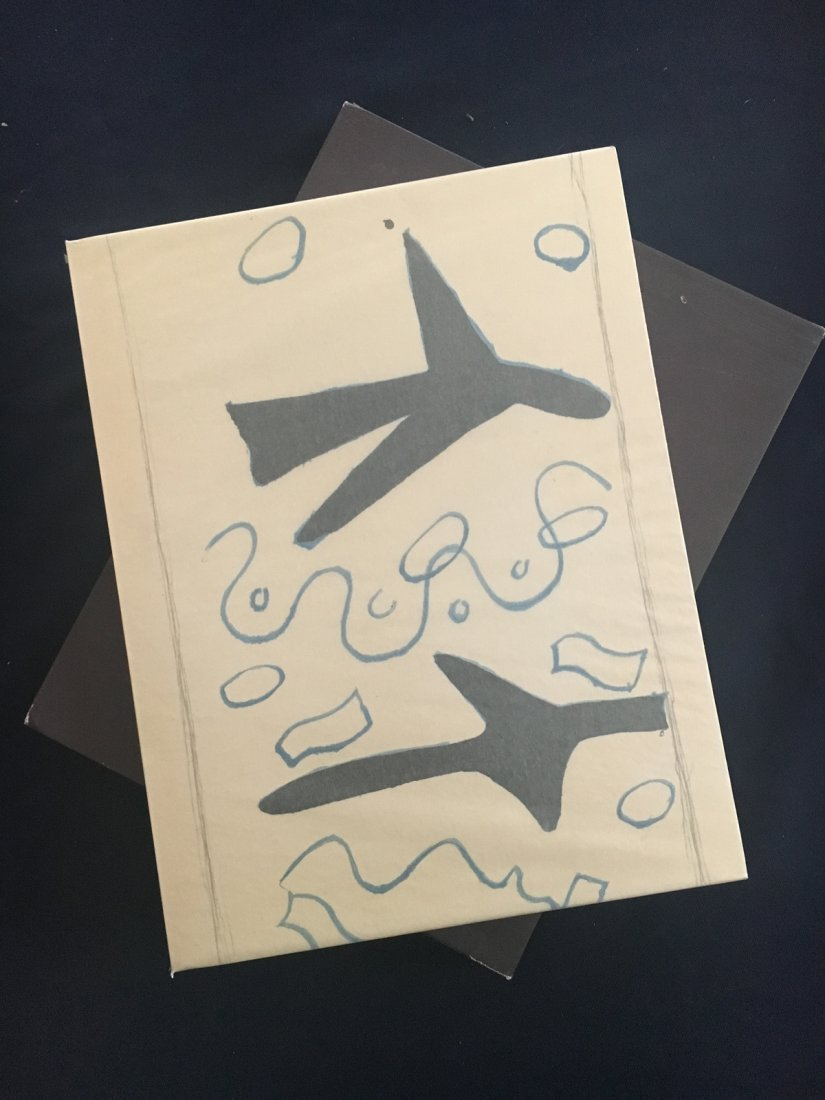 Braque lithographe. 1963, with 3 lithographs by Braque.