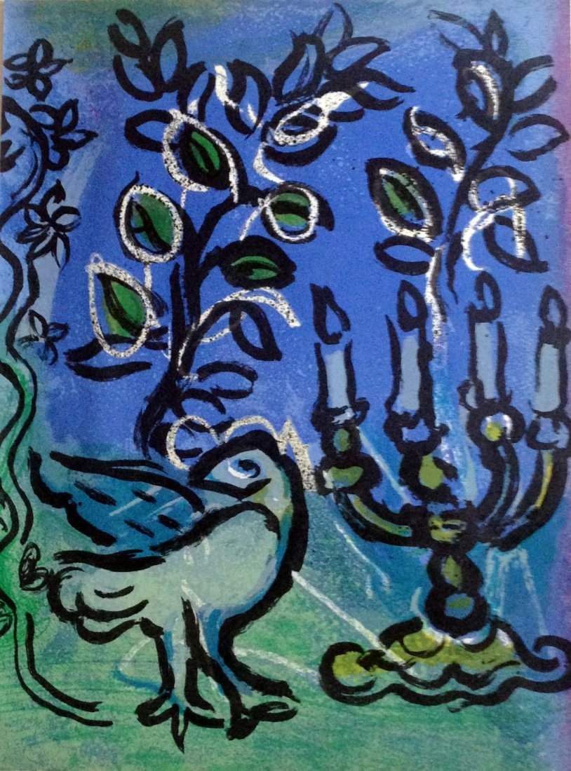 Chagall -  Le Chandelier. Original lithograph 1962
