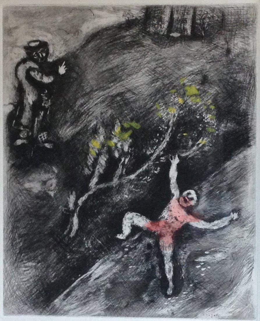 Chagall - L' Enfant et le Maitre d'ecole. Original