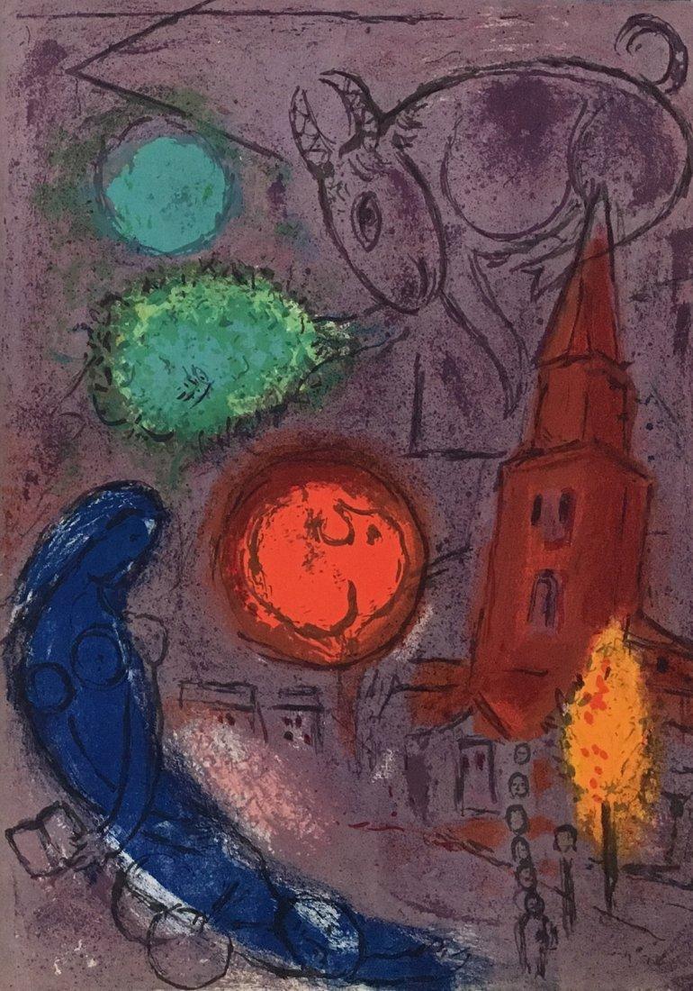 Chagall - St German le Pres. 1954, original lithograph