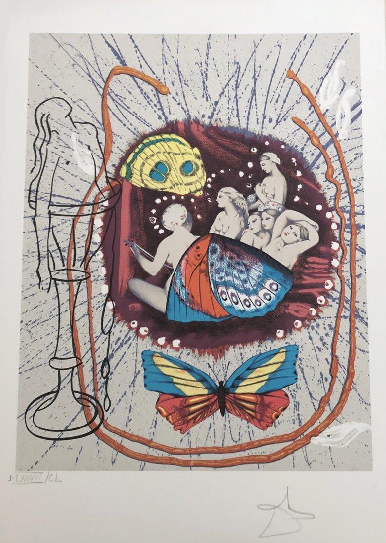 Papillons Anciennes. 1980. Portfolio with four