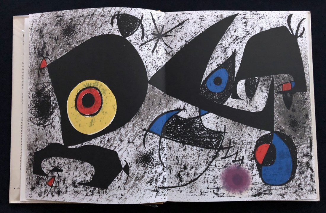 Hommage a Joan Miro'. 1972, with one original