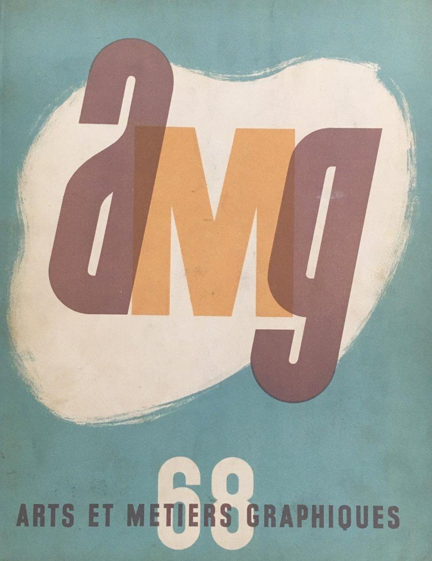 Revue Arts et métiers graphiques, 1939, with linocut by