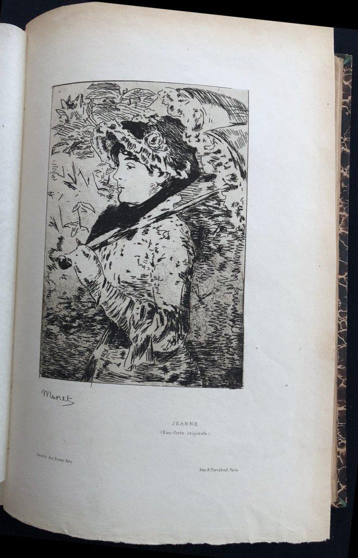 Gazette des Beaux-Arts –With Manet original etching