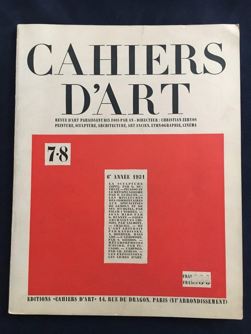 Revue Cahiers d'Art n 7-8, 1931.