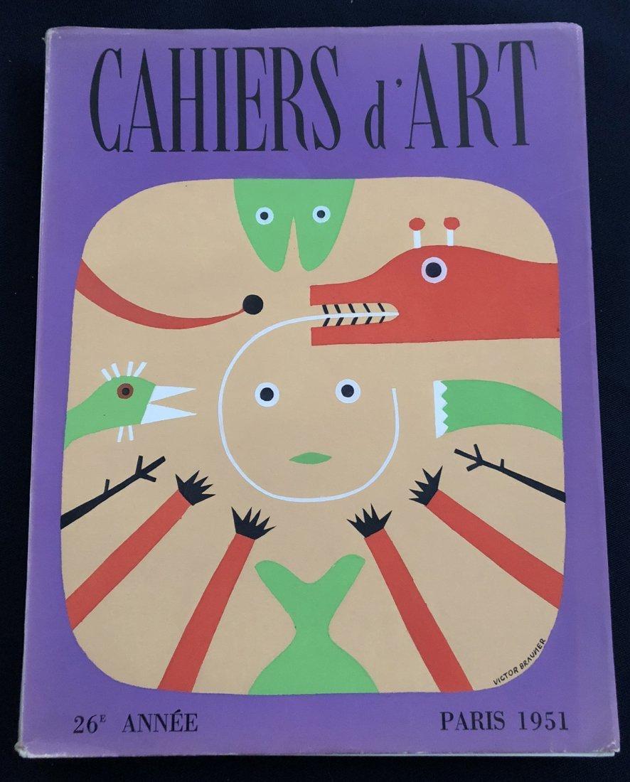 Revue Cahiers D'Art. 26 Annee, 1951.