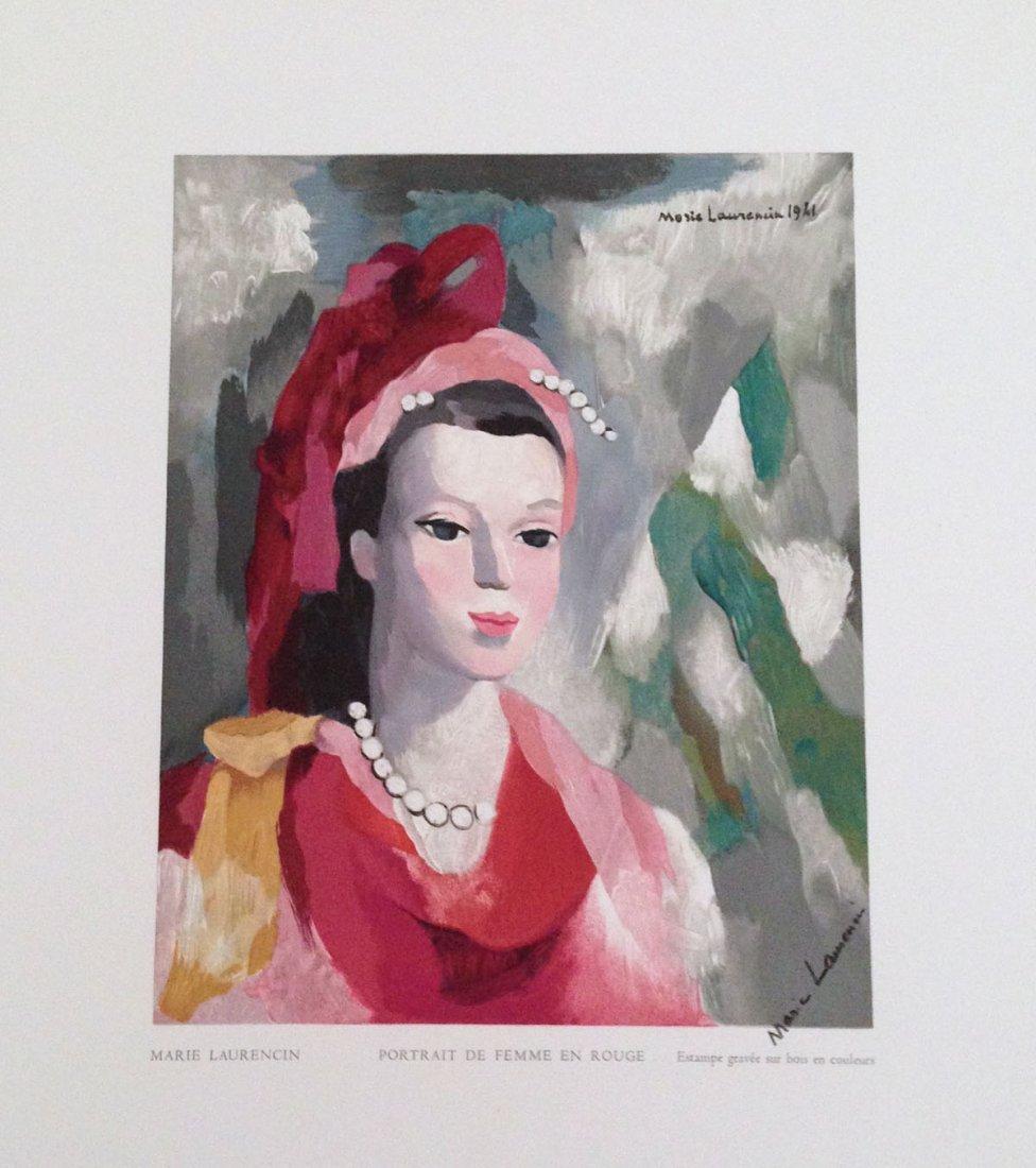 Laurencine, M. Portrait de Femme en Rouge, wood