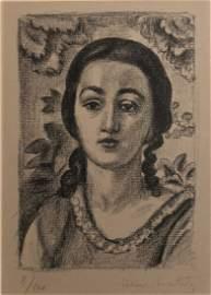 Matisse. Jeune Fille aux Boucles Brun. 1924, Original