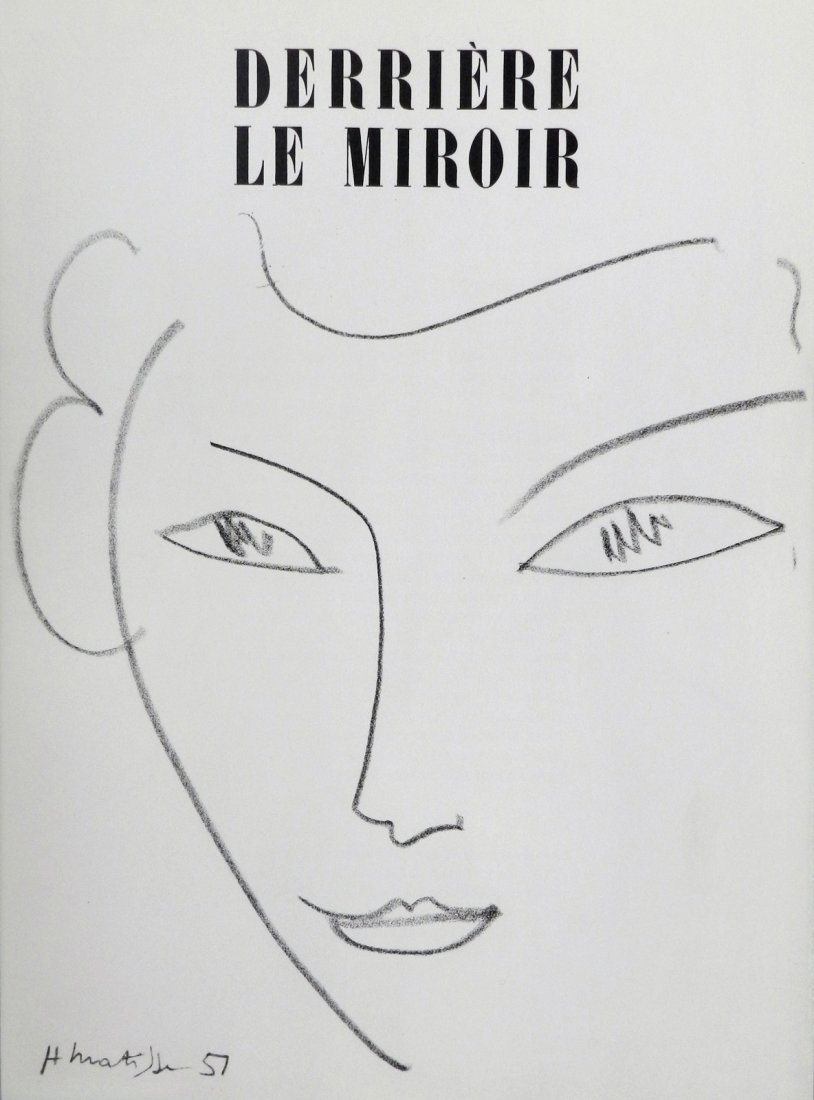 Derriere le Miroir 46-47. 1952, Matisse drawings