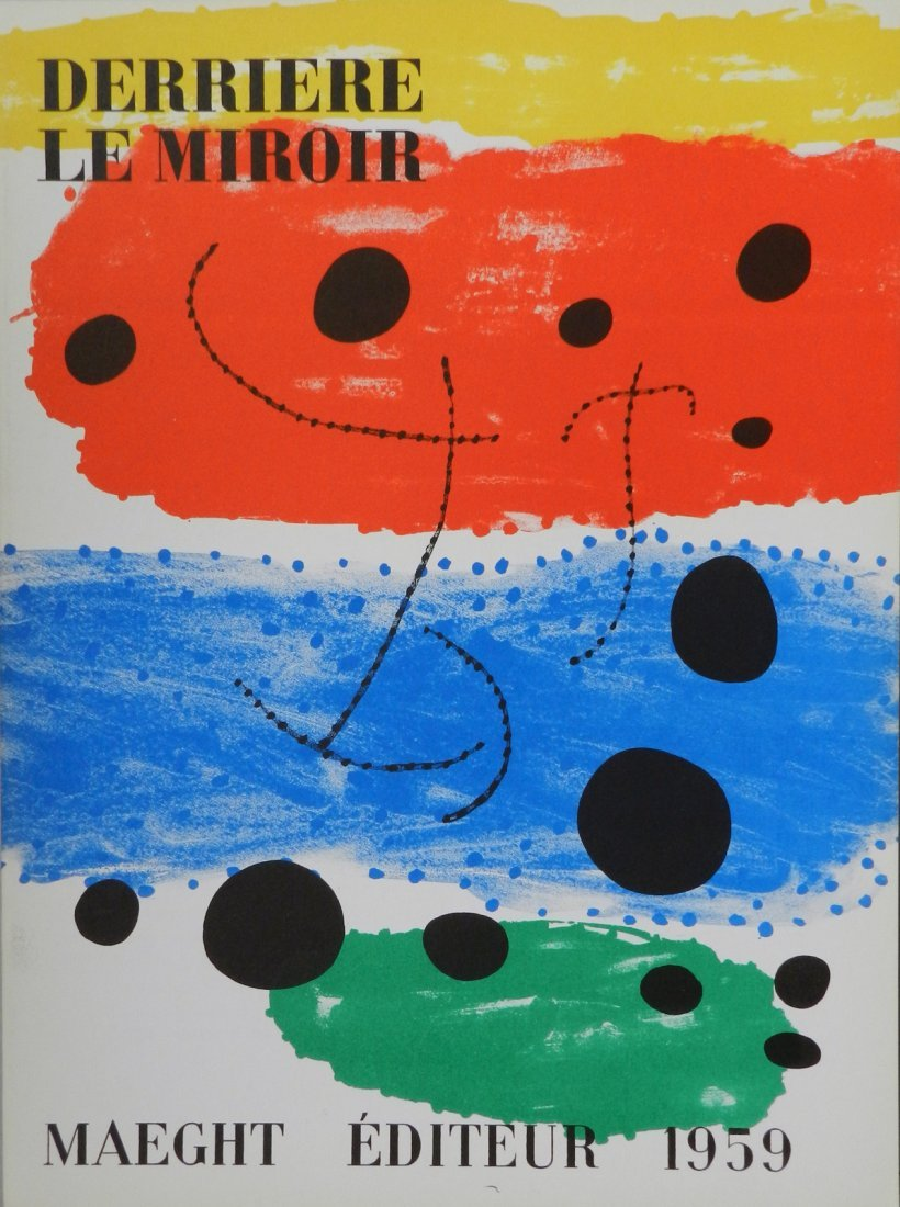 Miro. Derriere le Miroir 117, 1959, with one original