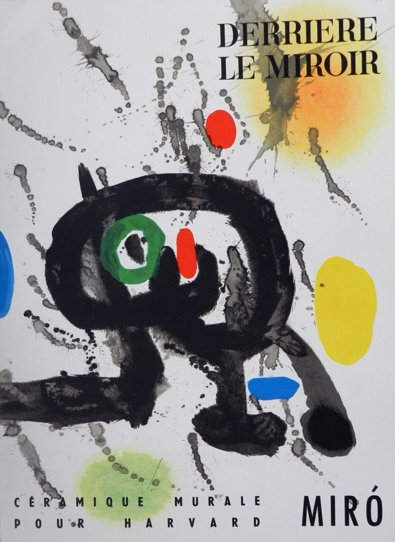 Miro. Derriere le Miroir 123, 1961, with two