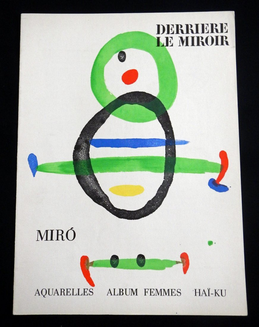 Miro. Derriere le Miroir 16., 1967, with two