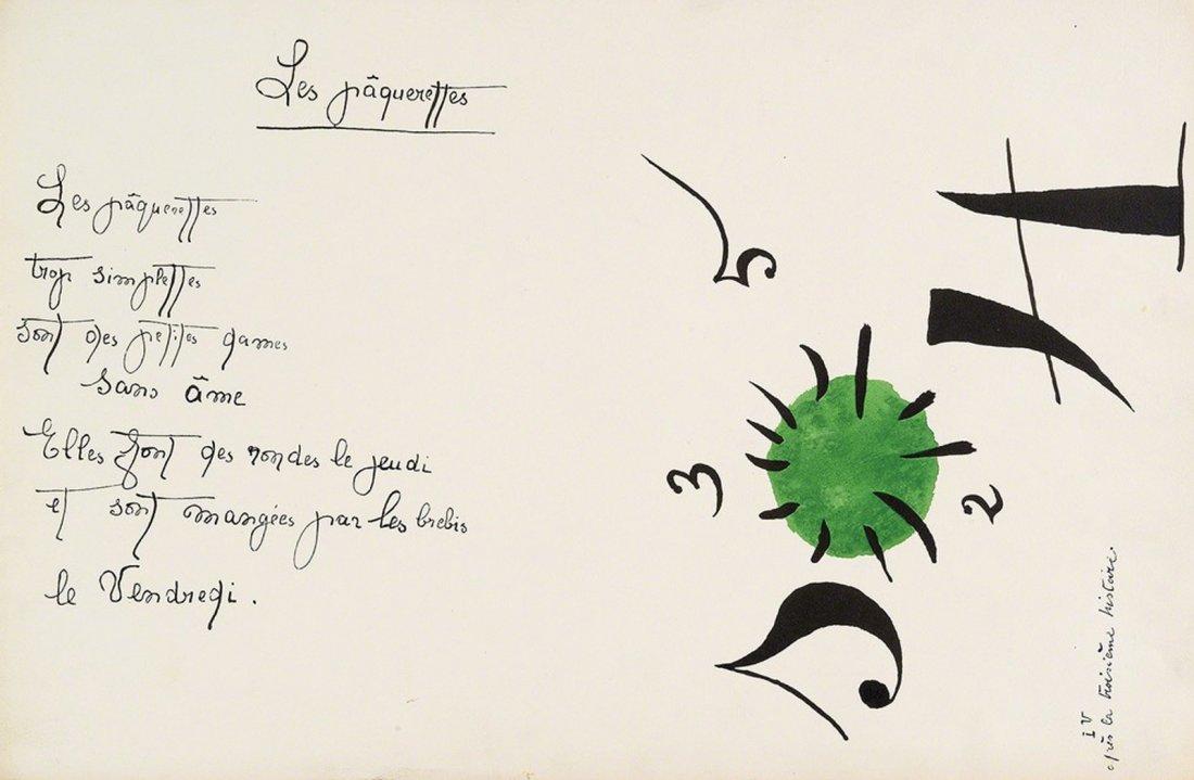 Miro. Il Etait une Petite Pie. 1928 Illustrated with 8