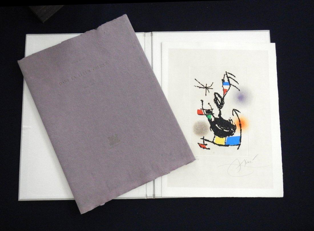 Miro . Dans l'ueur oblique. 1976, with one original