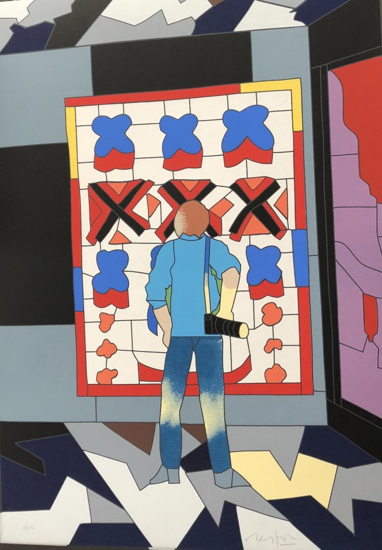 In the Museum. Silkscreen signed and numbered by
