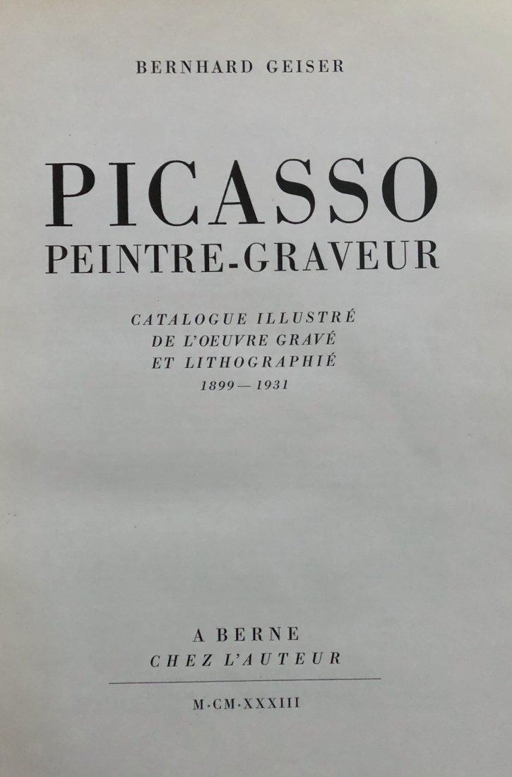 Picasso Peintre-Graveur – 1933 Geinser