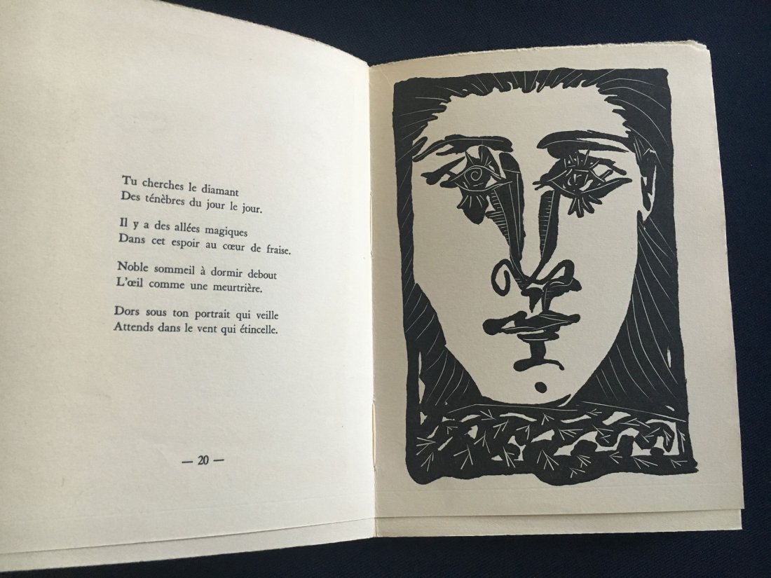 Picasso Pablo. Non Vouloir. 1942 With 4 etchings.