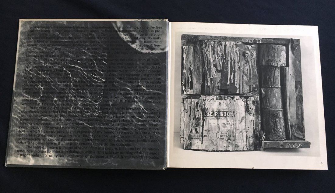 RAUSCHENBERG. 1969, Abrams. Book designed by the