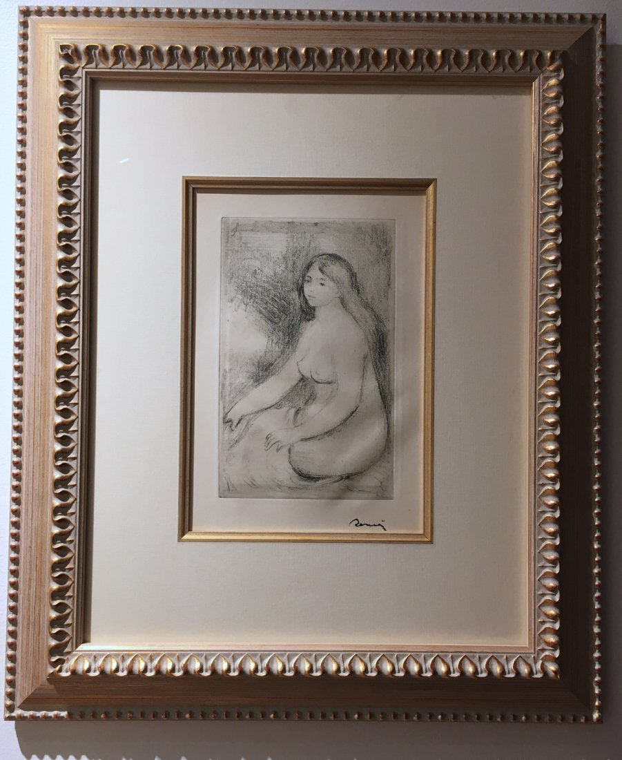 Renoir signed etching, 1905.